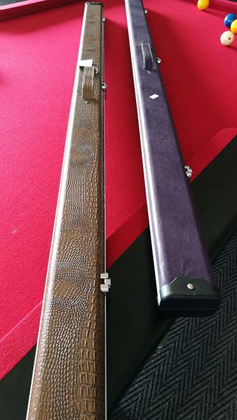 1 piece leather & aluminium Cue Case (2 cues)
